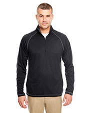 Ultraclub 8398 Men Cool & Dry Sport 1/4-Zip Pullover With Side & Sleeve-Panels at GotApparel