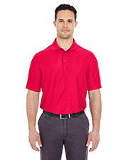 UltraClub 8413 Men Cool & Dry Elite Tonal Stripe Performance Polo at GotApparel