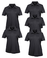 Ultraclub 8425L Women Cool & Dry Sport Performance Interlock Polo 5-Pack at GotApparel