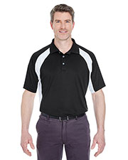 UltraClub 8427 Men Cool & Dry Sport Performance Color Block Interlock Polo at GotApparel