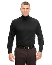 Ultraclub 8516 Men Egyptian Interlock Longsleeve Turtleneck at GotApparel