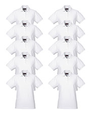 Ultraclub 8530 Women Classic Pique Polo 10-Pack at GotApparel