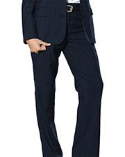 Edwards 8569 Women Classic Pinstripe Flat Front Dress Pant at GotApparel