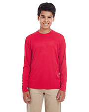 Ultraclub 8622Y Boys Youth Cool & Dry Performance Long-Sleeve Top at GotApparel