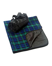 Liberty Bags 8702 Fleece/Nylon Plaid Picnic Blanket at GotApparel