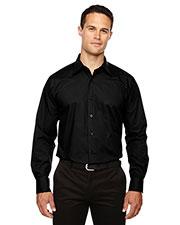 North End 87037 Men Luster Wrinkle-Resistant Cotton Blend Poplin Taped Shirt at GotApparel