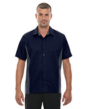 North End 87042 Men Fuse Colorblock Twill Shirt at GotApparel