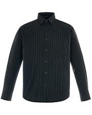 North End 87044 Men Align Wrinkle-Resistant Cotton Blend Dobby Vertical Striped Shirt at GotApparel