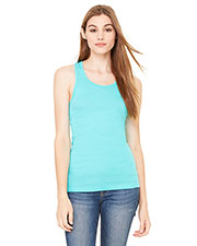 Bella + Canvas 8770 Women Sheer Mini Rib Racerback Tank at GotApparel