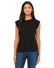 Bella + Canvas 8804 Women Flowy Muscle T-Shirt with Rolled Cuff at GotApparel