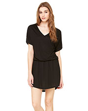 Bella + Canvas 8812 Women Flowy V-Neck Dress at GotApparel