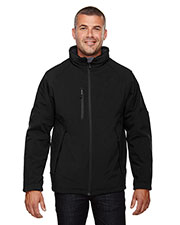 North End 88159 Men Glacier Insulated Three-Layer Fleece Bonded Soft Shell Jacket with Detachable Hood at GotApparel