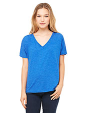 Bella + Canvas 8815 Women Slouchy V-Neck T-Shirt at GotApparel