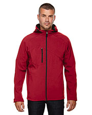 North End 88166 Men Prospect Two-Layer Fleece Bonded Soft Shell Hooded Jacket at GotApparel