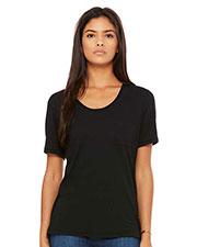 Bella + Canvas 8818B Fast Fashion Women Flowy Pocket T-Shirt at GotApparel