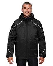 North End 88196 Men Angle 3-in-1 Jacket with Bonded Fleece Liner at GotApparel