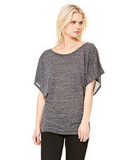 Bella + Canvas 8821 Women Flowy Draped Sleeve Dolman T-Shirt at GotApparel