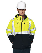Tri-Mountain 8831 Men Beacon Water Resistant Fleece Lined Safety Jacket at GotApparel