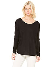 Bella + Canvas 8852 Women Flowy Long-Sleeve T-Shirt With 2x1 Sleeves at GotApparel