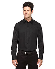 North End 88673 Men Boulevard Wrinkle-Free Two-Ply 80s Cotton Dobby Taped Shirt With Oxford Twill at GotApparel