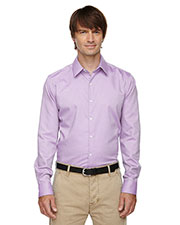 North End 88689 Men Refine Wrinkle-Free Two-Ply 80s Cotton Royal Oxford Dobby Taped Shirt at GotApparel