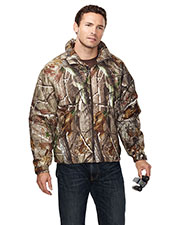 Tri-Mountain 8886C Men Mountaineer Camo Windproof/Water Resistant 3 Season Jacket With Realtree Ap Pattern at GotApparel