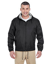 Ultraclub 8915 Men Fleece Lined Hooded Jacket at GotApparel