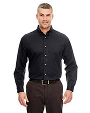 Ultraclub 8960C Men Cypress Long-Sleeve Twill With Pocket at GotApparel