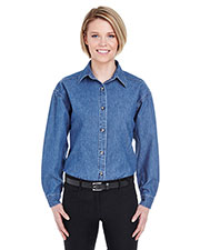 UltraClub 8966 Women Cypress Denim at GotApparel