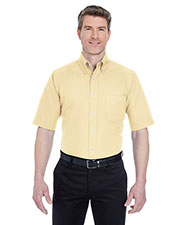 Ultraclub 8972 Men Classic Wrinkle-Free Short-Sleeve Oxford at GotApparel