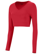 Augusta 9012 Women V-Neck Long-Sleeve Liner at GotApparel