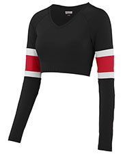 Augusta 9020 Women Double Down Long Sleeve Cheer V-Neck Liner at GotApparel