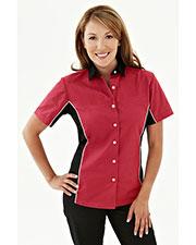 Tmr 904 Women Upshifter Short-Sleeve Twill Woven Shirt at GotApparel