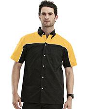 Tmr 908 Men Downshifter Short-Sleeve Twill Woven Shirt at GotApparel