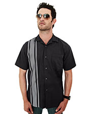 Tri-Mountain 909 Men Cobra Short-Sleeve Twill Camp Shirt at GotApparel