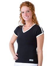 Urbane 9507 Women Contrast Trim Tee at GotApparel