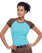 Urbane 9526 Women Two-Tone Tee at GotApparel