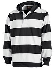 Charles River Apparel 9574 Men Hooded Rugby Performance Pullover at GotApparel