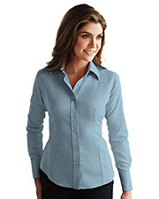 Tri-Mountain Gold 972 Women Brooke Non-Iron Twill Dress Shirt at GotApparel