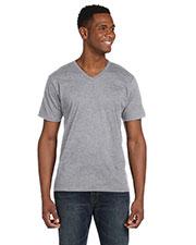 Anvil 982 Men Fashion Fit V-Neck T-Shirt at GotApparel