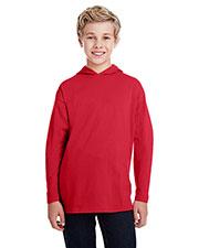 Anvil 987B Boys Long-Sleeve HoodedT-Shirt at GotApparel