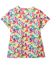 Jockey 9916 Women Peace And Love Crossover V-Neck Top at GotApparel