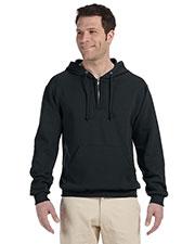 Jerzees 994MR Men 8 Oz. 50/50 Nublend Fleece Quarter-Zip Pullover Hood at GotApparel