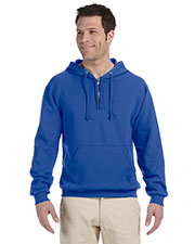 Jerzees 994MR Men 8 Oz. 50/50 Nublend Fleece Quarter-Zip Pullover Hood at GotApparel