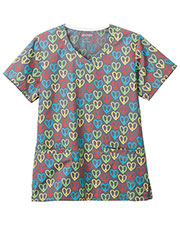Jockey 9976 Women Peace And Love OverlapV-Neck Top at GotApparel