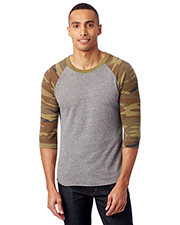 Custom Embroidered Alternative Apparel AA2089 Men 4.9 oz. Baseball Eco Jersey T-Shirt at GotApparel