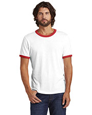 Custom Embroidered Alternative Apparel AA5103 Adult 4.4 oz. Keeper Vintage 50/50 Ringer Tee at GotApparel
