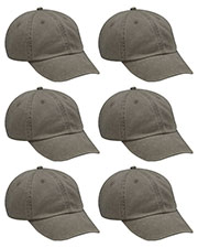 Adams AD969 Unisex Optimum Pigment Dyed-Cap 6-Pack at GotApparel
