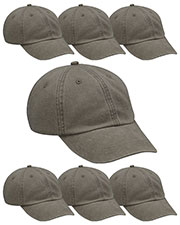 Adams AD969 Unisex Optimum Pigment Dyed-Cap 7-Pack at GotApparel