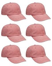 Adams AD969 Unisex Optimum Pigment Dyed-Cap 6-Pack at GotApparel